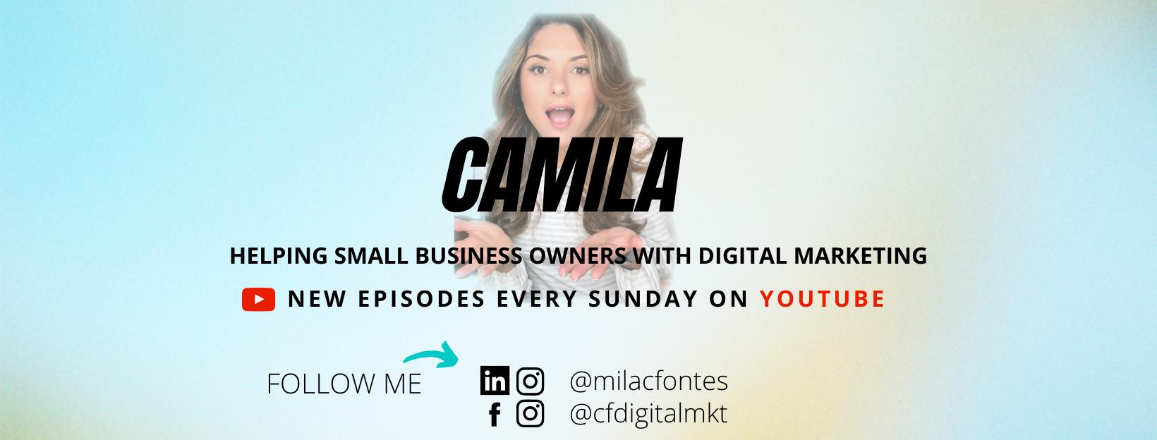 YouTube - Camila Fontes Digital Marketing