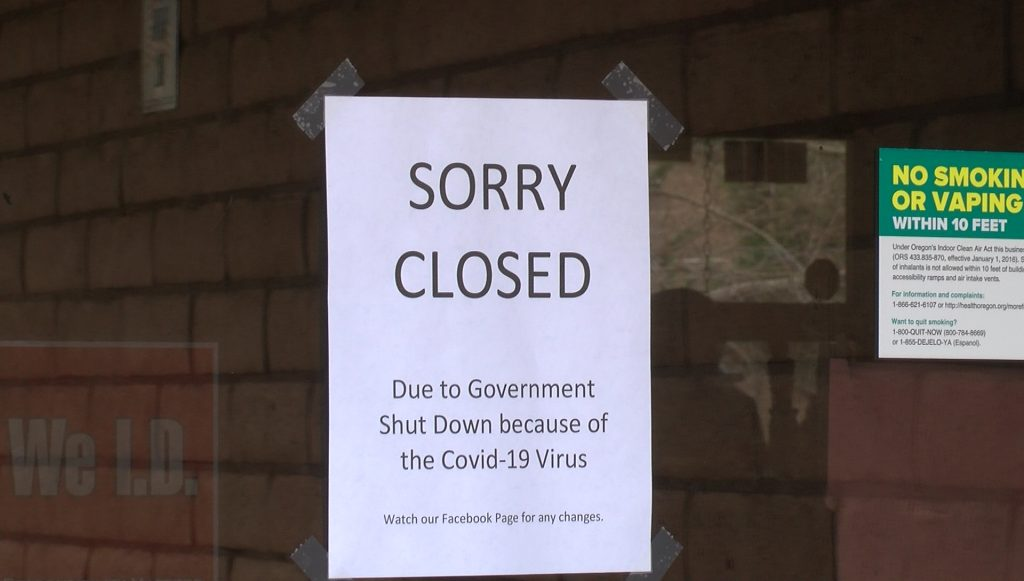 Local business shut down due to coronavirus