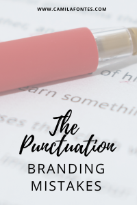 The punctuation in marketing