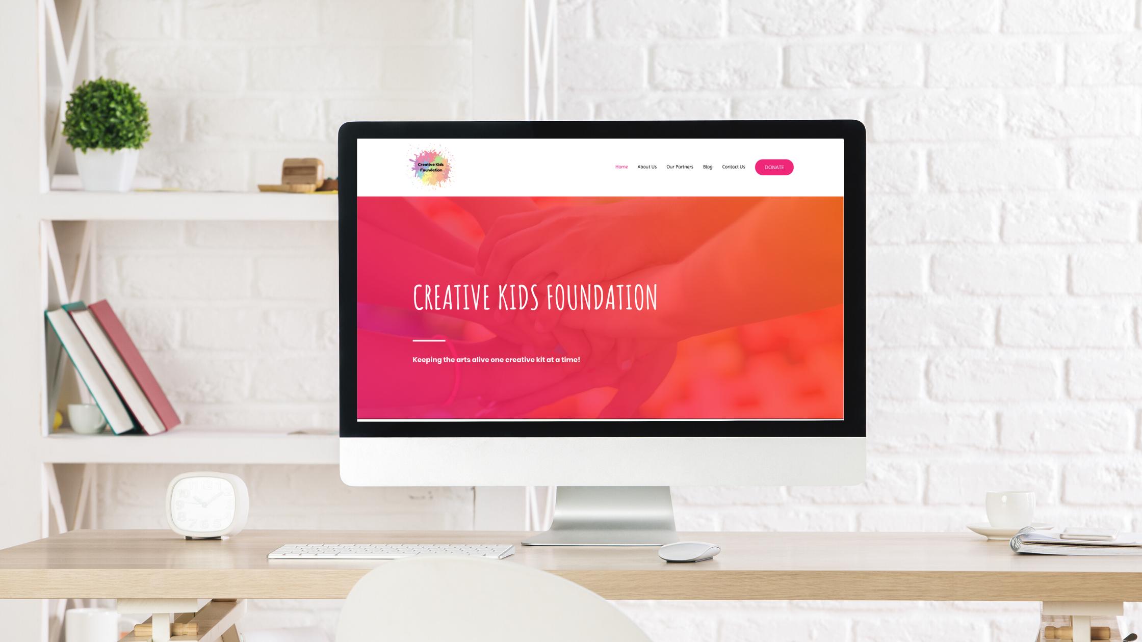 Creative kids foundation Camila Fontes Web Design