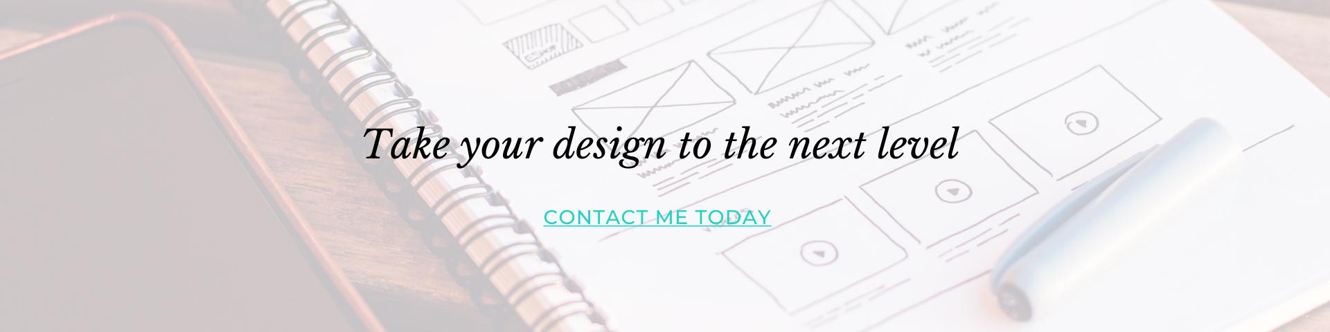 web design cta header blog